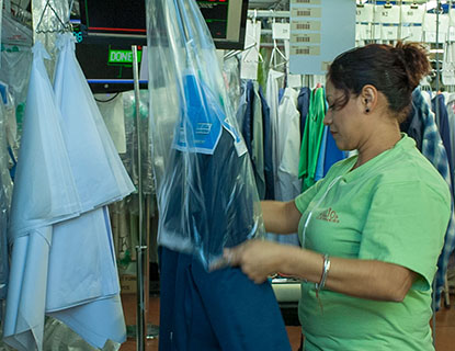 Dry Cleaning Bagging