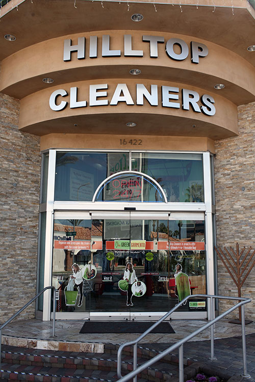 Hilltop Cleaners Front Door Encino